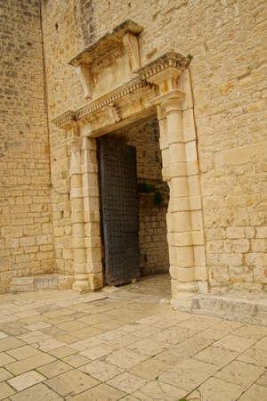 Gates of the old city walls of Trogir, Croatia Reklamní fotografie