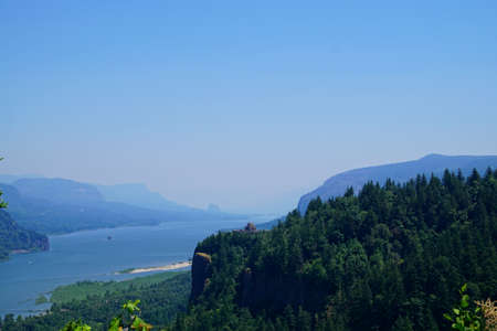 Visitor center on Crown Point in the Columbia Gorge, Oregon