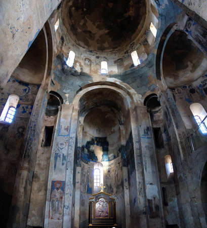 Remains of Christian frescoes in the Armenian Church of the Holy Cross on  Akhtamar Island (Akdamar) in Lake Van,  Turkey Redakční
