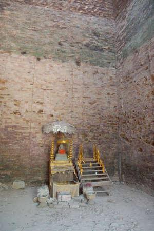 Small altar shrine inside temple at Sambor Pre Kuk, Kampong Thom,  Cambodia Editorial