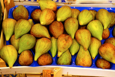 Fresh figs at an outdoor market in Bolzano, Italy Editorial