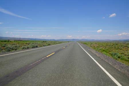 Highway through the High Desert between Bend and Burns, Oregon