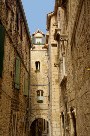 Narrow medieval street of Trogir, Croatia Reklamní fotografie
