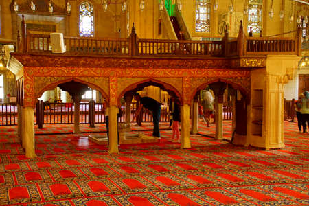EDIRNE, TURKEY - MAY 2, 2018 -Interior of Sinans Selimiye Mosque, 16th century,  in Edirne,Turkey