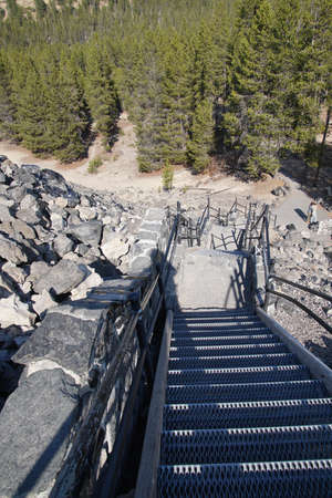 Staircase to Big Obsidian Flow, Newberry National Volcanic Monument, Oregon