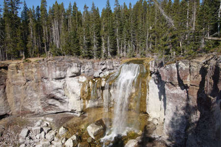 Cascades of Paulina Falls, in the caldera at Newberry National Volcanic Monument, Oregon