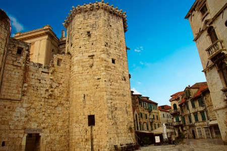 Tower and medieval city walls of Trogir, Croatia Reklamní fotografie