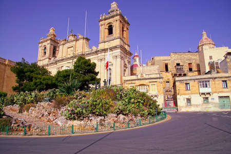 Parish church of St. Lawrence in Birgu Vittoriosa, Malta Reklamní fotografie