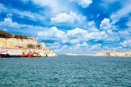 Fort Sant Angelo guarding the Grand Harbor of  Valletta, Malta
