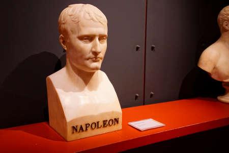 AJACCIO, CORSICA - APR 24, 2018 - Bust of Napoleon, Palais Fesch, Ajaccio Corsica, France