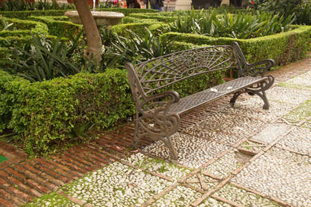 Garden of the Cathedral of Malaga, Spain Stockfoto