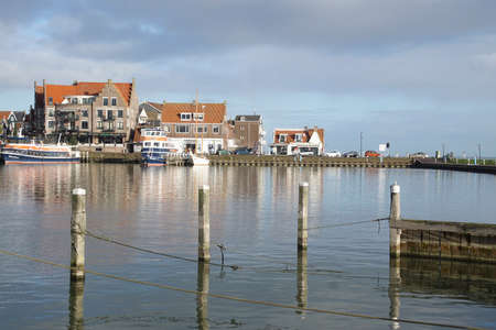 Marina and waterfront of Volendam, Netherlands