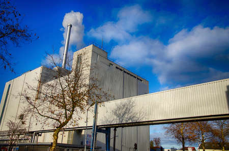 ZAANSE SCHANS,  NETHERLANDS - DEC 12, 2018 - Cocoa processing factory Redactioneel