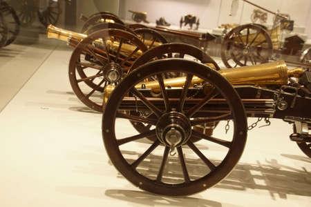 PARIS - DEC 5, 2018 - Model cannons in the Les Invalides Army Museum, Paris, France