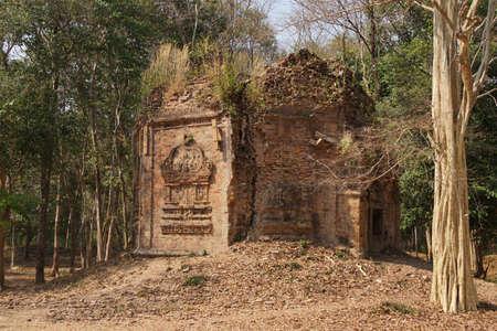 Octagonal Shiva temple, Sambor Pre Kuk,  Cambodia