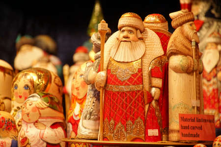 Russian wooden dolls at the Christmas market,Cologne, Germany Stockfoto