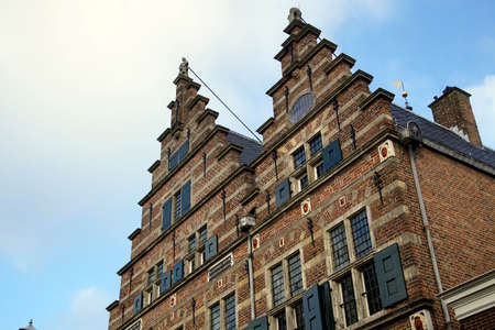 Traditional Dutch brick building in Naarden, Netherlands