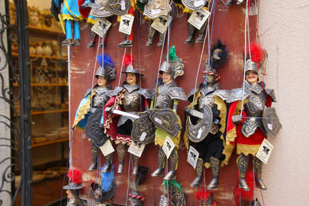 Soldier puppet marionettes, Taormina Sicily, Italy