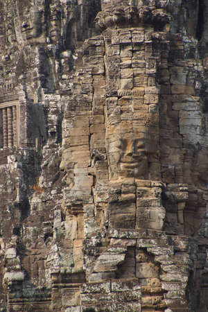 Face towers of Bayon Temple, Angkor Thom,  Cambodia