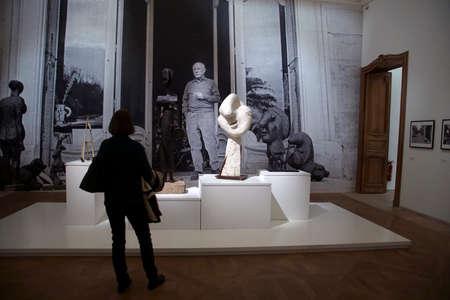 PARIS - DEC 6, 2018 - Visitors examine the artworks in the Picasso National Museum, Paris, France