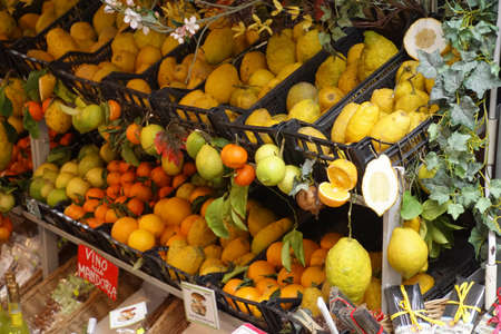 Fruit and flower shop in Taormina Sicily, Italy
