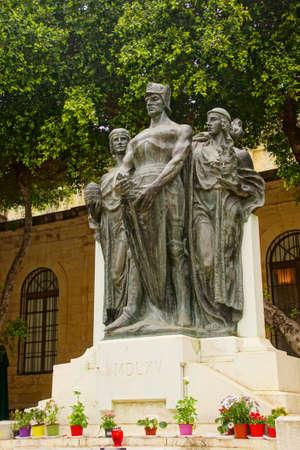 VALLETTA, MALTA - APR 12, 2018 - Memorial of the 1565 Siege by the Ottoman Empire, Valletta, Malta Editöryel