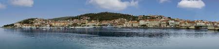 Panorama of Ciovo shoreline from Trogir, Croatia