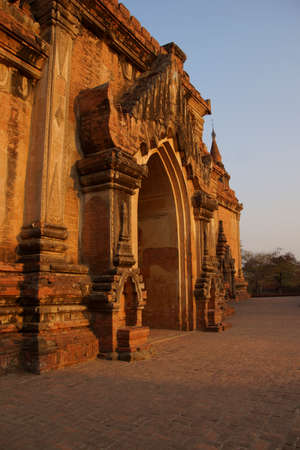 Delicate sandstone carvings   of Htilominlo Temple Bagan Myanmar (Burma)