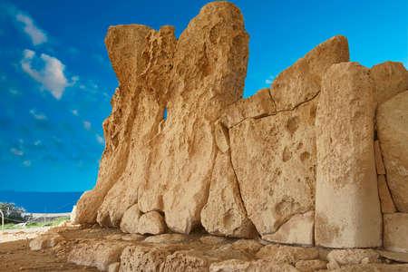 HAGAR QIM, MALTA - NOV 30, 2018 - Neolithic temples of Hagar Qim, Malta 報道画像