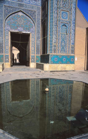 Mosque mosaics in , Yazd,Iran, Middle East