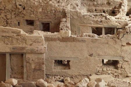 Ancient ruins of Akrotiri, Santorini, Greece Banco de Imagens