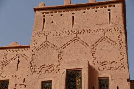 Exterior buildings of Kasbah Taourirt, Ouarzazate,  Morocco, Africa Standard-Bild - 120704584