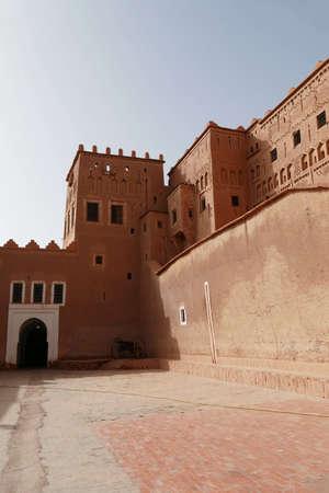 Exterior buildings of Kasbah Taourirt, Ouarzazate,  Morocco, Africa Standard-Bild - 120704746