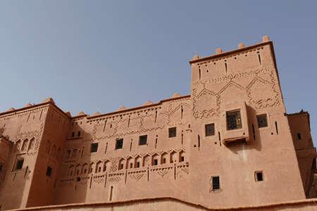 Exterior buildings of Kasbah Taourirt, Ouarzazate,  Morocco, Africa Standard-Bild - 120887514