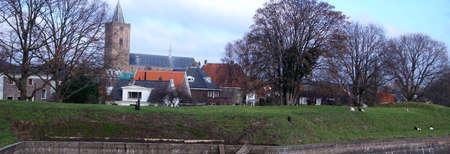 Cannon in casement of fortifications of Naarden, Netherlands Reklamní fotografie