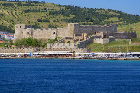Ottoman era fortress on island of Bozcaada, Turkey 新聞圖片