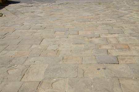Flagstone pavement of Fortezza Nuova, Livorno, Italy