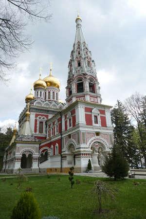 Russin orthodox church, Shipchenski monastery of St Nicholas, Shipka, Bulgaria Stock Photo