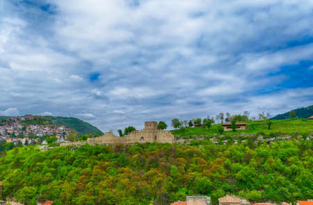 Landscape view of the Fortress Tsarevets, Veliko Tarnovo, Bulgaria