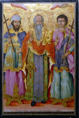 PLOVDIV, BULGARIA - APR 16, 2019 - Icon of Jacob and patriarchs, Plovdiv, Bulgaria