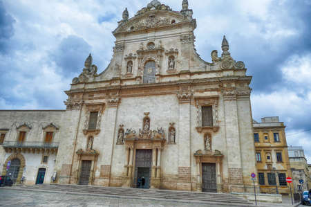 Exterior of baroque Church of Sts. Peter and Paul, Galatina, Puglia, Italy Stock fotó
