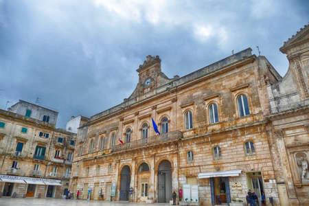 Baroque buildings in the central piazza of Ostuni, Puglia, Italy