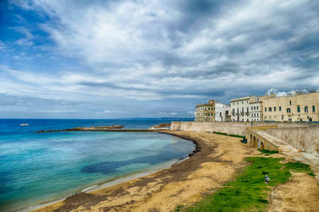 Ionian waterfront of Gallipoli, Puglia, Italy Stock Photo
