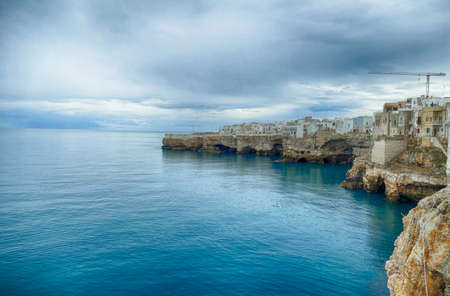 Seacliff waterfront of Polignano, Puglia, Italy Stockfoto