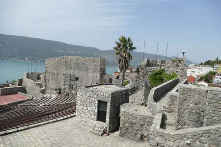 Stone walls of the Kanli Kula Fortress,Herceg Novi, Montenegro Redakční