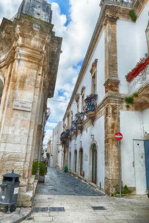 Baroque white buildings of Martina Franca, Puglia, Italy Stock Photo