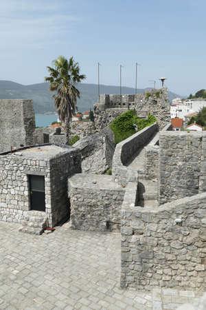 Stone walls of the Kanli Kula Fortress,Herceg Novi, Montenegro Editorial