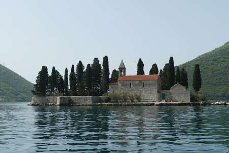 Island Church of St George, Perast, Montenegro