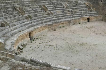 Ancient Roman amphitheater discovered in main square of Lecce, Puglia, Italy 스톡 콘텐츠