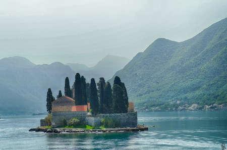 Island Church of St George, Perast, Montenegro